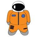 Cartoon astronaut Royalty Free Stock Photography