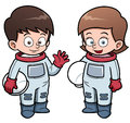 Cartoon astronaut kids vector illustration of Stock Photography