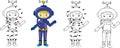 Cartoon Astronaut. Vector Illu...