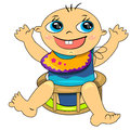 Cartoon baby boy icon.breeding time illustration Stock Photography