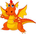 Cartoon baby dragon Royalty Free Stock Photos