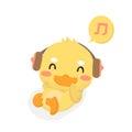 Cartoon baby duck.