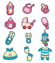 Cartoon baby good icon set Stock Images