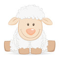 Cartoon baby sheep Stock Images