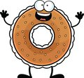Cartoon Bagel Happy Royalty Free Stock Photo