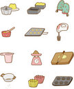 Cartoon Bake icon Royalty Free Stock Images