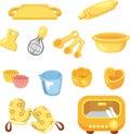 Cartoon Bake tool icon Royalty Free Stock Photo