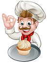 Cartoon Baker or Pastry Chef