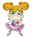 Cartoon ballerina illustration Royalty Free Stock Photo