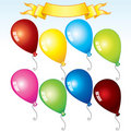 Cartoon balloons Royalty Free Stock Photo