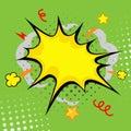 Cartoon bang cartoon boom comic book explosion Stock Image