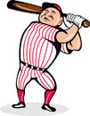 Cartoon baseball player bat Royalty Free Stock Photography
