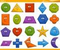 Cartoon basic geometric shapes Royalty Free Stock Photo
