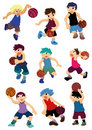 Cartoon basketball player icon Royalty Free Stock Images