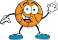 Cartoon basketball waving Stock Images