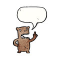 Cartoon bear explaining his point Stock Images