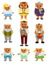 Cartoon bear family icon Royalty Free Stock Image