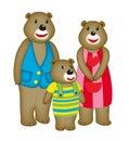 Cartoon bear family cute bears Royalty Free Stock Photo