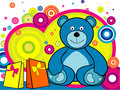 Cartoon bear vector Royalty Free Stock Photos