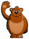 Cartoon Bear Waving Hand Stock Photography