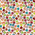 Cartoon beautiful princess seamless pattern Royalty Free Stock Photos