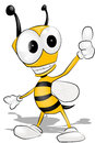 Cartoon bee fun vector eps Stock Images