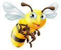 Cartoon bee an illustration of a cute Stock Photo