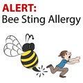 Cartoon Bee Stinging Man Royalty Free Stock Photo