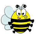 Cartoon bee toy character.  illustration Royalty Free Stock Photography