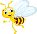 Cartoon bee for you design Royalty Free Stock Photo