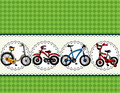 Cartoon bicycle card Stock Photos