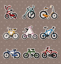 Cartoon Bicycle stickers Stock Photos