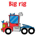 Cartoon big rig of vector