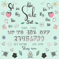 Cartoon Big Sale set. An easy way to make your own personal banner.