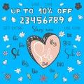 Cartoon Big Sale set. Make your own sale banner.