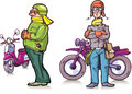 Cartoon bikers Royalty Free Stock Image