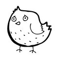 Cartoon bird black and white line in retro style vector available Stock Photos