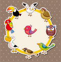 Cartoon bird card Stock Image