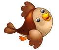 Cartoon bird flying illustration for children
