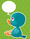 Cartoon bird thinking Royalty Free Stock Image
