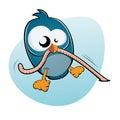 Cartoon Bird And Worm
