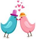 Cartoon birds Royalty Free Stock Photos