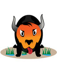 Cartoon Bison Illustration Royalty Free Stock Photos