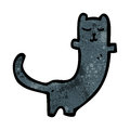 Cartoon black cat Stock Images