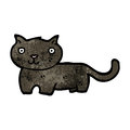 Cartoon black cat retro with texture isolated on white Royalty Free Stock Photos