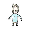 Cartoon blond man with handlebar mustache Royalty Free Stock Image