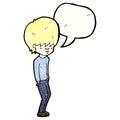 Cartoon blond teenager Royalty Free Stock Photography