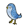 Cartoon bluebird retro with texture isolated on white Royalty Free Stock Photos