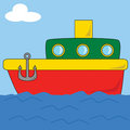 Cartoon Boat 2 Royalty Free Stock Photo