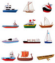 Cartoon boat icon Stock Photo